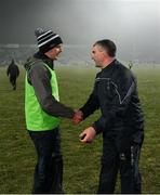 2 February 2019; Limerick coach Paul Kinnerk and Tipperary manager Liam Sheedy exchange a handshake after the Allianz Hurling League Division 1A Round 2 match between Limerick and Tipperary at the Gaelic Grounds in Limerick. Photo by Diarmuid Greene/Sportsfile