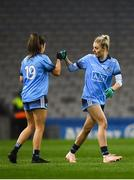 2 February 2019; Nicole Owens, right, with Kate Sullivan of Dublin during the Lidl Ladies NFL Division 1 Round 1 match between Dublin and Donegal at Croke Park in Dublin. Photo by Harry Murphy/Sportsfile
