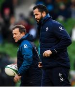 2 February 2019; Ireland defence coach Andy Farrell, right, and kicking coach Richie Murphy ahead of the Guinness Six Nations Rugby Championship match between Ireland and England in the Aviva Stadium in Dublin. Photo by Ramsey Cardy/Sportsfile