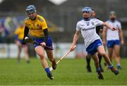 3 February 2019; Darragh Heavey of Roscommon in action against Nathan Farrell of Monaghan during the Allianz Hurling League Division 3A Round 2 match between Roscommon and Monaghan at Dr Hyde Park in Roscommon. Photo by Piaras Ó Mídheach/Sportsfile *** Local Caption *** 3 February 2019; Darragh Heavey of Roscommon during the Allianz Hurling League Division 3A Round 2 match between Roscommon and Monaghan at Dr Hyde Park in Roscommon. Photo by Piaras Ó Mídheach/Sportsfile