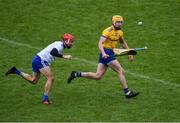 3 February 2019; Padraig Kelly of Roscommon /ia Conor McKenna of Monaghan during the Allianz Hurling League Division 3A Round 2 match between Roscommon and Monaghan at Dr Hyde Park in Roscommon. Photo by Piaras Ó Mídheach/Sportsfile