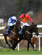 3 February 2019; Klassical Dream, with Ruby Walsh up, right, beats second placed Aramon, with Paul Townend up, to the finish post to win the Chanelle Pharma Novice Hurdle during Day Two of the Dublin Racing Festival at Leopardstown Racecourse in Dublin. Photo by Ramsey Cardy/Sportsfile