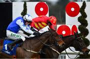3 February 2019; Klassical Dream, with Ruby Walsh up, beats second placed Aramon, with Paul Townend up, to the finish post to win the Chanelle Pharma Novice Hurdle during Day Two of the Dublin Racing Festival at Leopardstown Racecourse in Dublin. Photo by Ramsey Cardy/Sportsfile