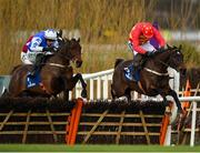 3 February 2019; Klassical Dream, right, with Ruby Walsh up, jumps the last, alsongside Aramon, left, with Paul Townend up, on their way to winning the Chanelle Pharma Novice Hurdle during Day Two of the Dublin Racing Festival at Leopardstown Racecourse in Dublin. Photo by Seb Daly/Sportsfile