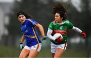 3 February 2019; Niamh Kelly of Mayo in action against Roisin Daly of Tipperary during the Lidl Ladies Football National League Division 1 Round 1 match between Mayo and Tipperary at Swinford Amenity Park in Swinford, Co. Mayo. Photo by Sam Barnes/Sportsfile
