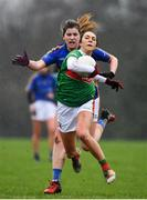 3 February 2019; Niamh Kelly of Mayo in action against Cora Maher of Tipperary during the Lidl Ladies Football National League Division 1 Round 1 match between Mayo and Tipperary at Swinford Amenity Park in Swinford, Co. Mayo. Photo by Sam Barnes/Sportsfile