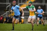 3 February 2019; Danny Sutcliffe of Dublin in action against Paddy Rigney of Offaly during the Allianz Hurling League Division 1B Round 2 match between Offaly and Dublin at Bord Na Mona O'Connor Park in Tullamore, Co. Offaly. Photo by David Fitzgerald/Sportsfile