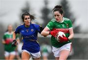 3 February 2019; Emma Needham of Mayo in action against Elaine Fitzpatrick of Tipperary during the Lidl Ladies Football National League Division 1 Round 1 match between Mayo and Tipperary at Swinford Amenity Park in Swinford, Co. Mayo. Photo by Sam Barnes/Sportsfile