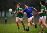 3 February 2019; Rachel Kearns of Mayo in action against Maria Curley of Tipperary during the Lidl Ladies Football National League Division 1 Round 1 match between Mayo and Tipperary at Swinford Amenity Park in Swinford, Co. Mayo. Photo by Sam Barnes/Sportsfile