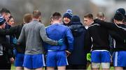 3 February 2019; Monaghan manager Malachy O'Rourke speaks to his players before the Allianz Football League Division 1 Round 2 match between Roscommon and Monaghan at Dr Hyde Park in Roscommon. Photo by Piaras Ó Mídheach/Sportsfile