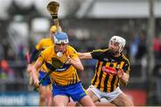 3 February 2019; Diarmuid Ryan of Clare in action against Conor Fogarty of Kilkenny during the Allianz Hurling League Division 1A Round 2 match between Clare and Kilkenny at Cusack Park in Ennis, Co. Clare. Photo by Brendan Moran/Sportsfile