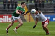 3 February 2019; Fionn McDonagh of Mayo  in action against Michael McKernan of Tyrone  during the Allianz Football League Division 1 Round 2 match between Tyrone and Mayo at Healy Park in Omagh, Tyrone. Photo by Oliver McVeigh/Sportsfile