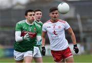 3 February 2019; Jason Doherty of Mayo in action against Michael McKernan of Tyrone  during the Allianz Football League Division 1 Round 2 match between Tyrone and Mayo at Healy Park in Omagh, Tyrone. Photo by Oliver McVeigh/Sportsfile