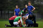 3 February 2019; Ciara McManamon of Mayo receives treatment following an injury during the Lidl Ladies Football National League Division 1 Round 1 match between Mayo and Tipperary at Swinford Amenity Park in Swinford, Co. Mayo. Photo by Sam Barnes/Sportsfile