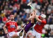 3 February 2019; Conor McDonald of Wexford in action against Tim O'Mahony of Cork during the Allianz Hurling League Division 1A Round 2 match between Cork and Wexford at Páirc Uí Chaoimh in Cork. Photo by Eóin Noonan/Sportsfile
