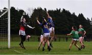 3 February 2019; Aishling Moloney and Ava Fennessy of Tipperary contest a hight ball against Laura Brennan of Mayo during the Lidl Ladies Football National League Division 1 Round 1 match between Mayo and Tipperary at Swinford Amenity Park in Swinford, Co. Mayo. Photo by Sam Barnes/Sportsfile
