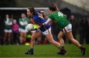 3 February 2019; Caoimhe Condon of Tipperary in action against Danielle Caldwell of Mayo during the Lidl Ladies Football National League Division 1 Round 1 match between Mayo and Tipperary at Swinford Amenity Park in Swinford, Co. Mayo. Photo by Sam Barnes/Sportsfile