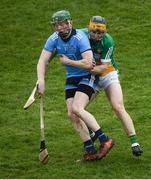 3 February 2019; Fergal Whitely of Dublin in action against Tom Spain of Offaly during the Allianz Hurling League Division 1B Round 2 match between Offaly and Dublin at Bord Na Mona O'Connor Park in Tullamore, Co. Offaly. Photo by David Fitzgerald/Sportsfile