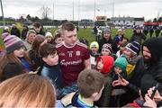 3 February 2019; Joe Canning of Galway with supporters after the Allianz Hurling League Division 1B Round 2 match between Carlow and Galway at Netwatch Cullen Park in Carlow. Photo by Matt Browne/Sportsfile