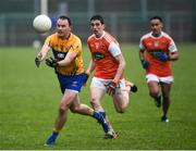 3 February 2019; David Tubridy of Clare in action against Rory Grugan of Armagh during the Allianz Football League Division 2 Round 2 match between Armagh and Clare at Páirc Esler in Newry, County Down. Photo by Philip Fitzpatrick/Sportsfile