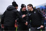 3 February 2019; Kerry manager Peter Keane, left, with his selectors Maurice Fitzgerald, right, and James Foley after the Allianz Football League Division 1 Round 2 match between Cavan and Kerry at Kingspan Breffni in Cavan. Photo by Stephen McCarthy/Sportsfile