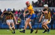 3 February 2019; Peter Duggan of Clare in action against Ger Aylward, left, and Padraig Walsh of Kilkenny during the Allianz Hurling League Division 1A Round 2 match between Clare and Kilkenny at Cusack Park in Ennis, Co. Clare. Photo by Brendan Moran/Sportsfile