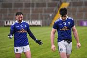 3 February 2019; Thomas Galligan, right, and Niall Murray of Cavan following the Allianz Football League Division 1 Round 2 match between Cavan and Kerry at Kingspan Breffni in Cavan. Photo by Stephen McCarthy/Sportsfile