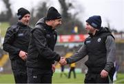 3 February 2019; Kerry manager Peter Keane with Jason McGahan, Kerry strength and conditioning coach, right, following the Allianz Football League Division 1 Round 2 match between Cavan and Kerry at Kingspan Breffni in Cavan. Photo by Stephen McCarthy/Sportsfile