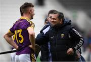 3 February 2019; Wexford manager Davy Fitzgerald with Cathal Dunbar of Wexford after the Allianz Hurling League Division 1A Round 2 match between Cork and Wexford at Páirc Uí Chaoimh in Cork. Photo by Eóin Noonan/Sportsfile
