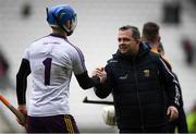 3 February 2019; Wexford manager Davy Fitzgerald with Mark Fanning of Wexford after the Allianz Hurling League Division 1A Round 2 match between Cork and Wexford at Páirc Uí Chaoimh in Cork. Photo by Eóin Noonan/Sportsfile