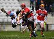 3 February 2019; Mark Fanning of Wexford is tackled by Bill Cooper of Cork during the Allianz Hurling League Division 1A Round 2 match between Cork and Wexford at Páirc Uí Chaoimh in Cork. Photo by Eóin Noonan/Sportsfile
