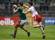 3 February 2019; Aidan O'Shea of Mayo in action against Matthew Donnelly of Tyrone during the Allianz Football League Division 1 Round 2 match between Tyrone and Mayo at Healy Park in Omagh, Tyrone. Photo by Oliver McVeigh/Sportsfile