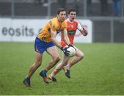 3 February 2019; Gary Brennan of Clare in action against Rory Grugan of Armagh during the Allianz Football League Division 2 Round 2 match between Armagh and Clare at Páirc Esler in Newry, County Down. Photo by Philip Fitzpatrick/Sportsfile