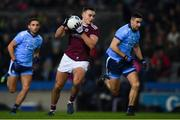 2 February 2019; Cillian McDaid of Galway on the attack as Niall Scully, left, and James McCarthy of Dublin look on during the Allianz Football League Division 1 Round 2 match between Dublin and Galway at Croke Park in Dublin. Photo by Piaras Ó Mídheach/Sportsfile