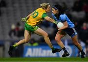 2 February 2019; Olwen Carey of Dublin in action against Karen Guthrie of Donegal during the Lidl Ladies NFL Division 1 Round 1 match between Dublin and Donegal at Croke Park in Dublin. Photo by Piaras Ó Mídheach/Sportsfile