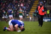 3 February 2019; Killian Clarke of Cavan is attended to by Cavan physiotherapist Barry Smith during the Allianz Football League Division 1 Round 2 match between Cavan and Kerry at Kingspan Breffni in Cavan. Photo by Stephen McCarthy/Sportsfile