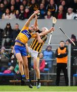 3 February 2019; Peter Duggan of Clare battles for possession with Padraig Walsh of Kilkenny during the Allianz Hurling League Division 1A Round 2 match between Clare and Kilkenny at Cusack Park in Ennis, Co. Clare. Photo by Brendan Moran/Sportsfile