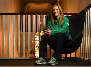 4 February 2019; Alison Miller poses for a portrait ahead of an Ireland Women's Rugby press conference at the Sandymount Hotel in Dublin. Photo by Ramsey Cardy/Sportsfile