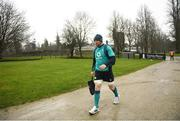 5 February 2019; Peter O'Mahony arrives for Ireland Rugby squad training at Carton House in Maynooth, Co. Kildare. Photo by Ramsey Cardy/Sportsfile