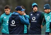 5 February 2019; Tom Farrell, left, Jack Conan, centre, and Adam Byrne during Ireland Rugby squad training at Carton House in Maynooth, Co. Kildare. Photo by Ramsey Cardy/Sportsfile