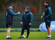 5 February 2019; Head coach Joe Schmidt, left, kicking coach Richie Murphy, centre, and defence coach Andy Farrell during Ireland Rugby squad training at Carton House in Maynooth, Co. Kildare. Photo by Ramsey Cardy/Sportsfile