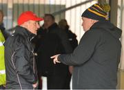 3 February 2019; Tyrone manager Mickey Harte and Tyrone Chairman Michael Kerr in conversation in the tunnel before the Allianz Football League Division 1 Round 2 match between Tyrone and Mayo at Healy Park in Omagh, Tyrone. Photo by Oliver McVeigh/Sportsfile