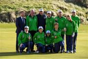 6 February 2019; Irish golf legend Padraig Harrington meets Matt English, CEO, Special Olympics Ireland, and Team Ireland golfers at the Portmarnock Links Hotel in Portmarnock, Co Dublin. Photo by Piaras Ó Mídheach/Sportsfile