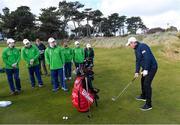 6 February 2019; Irish golf legend Padraig Harrington meets Team Ireland golfers at the Portmarnock Links Hotel in Portmarnock, Co Dublin. Photo by Piaras Ó Mídheach/Sportsfile