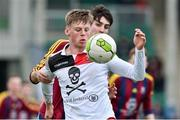 6 February 2019; Robert Slevin of UCC in action against Shane McCallion of UL during the RUSTLERS IUFU Collingwood Cup Final match between University of Limerick and University College Cork at Markets Field in Limerick. Photo by Matt Browne/Sportsfile