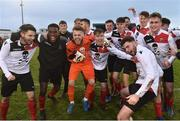 6 February 2019; UCC players celebrate after the RUSTLERS IUFU Collingwood Cup Final match between University of Limerick and University College Cork at Markets Field in Limerick. Photo by Matt Browne/Sportsfile