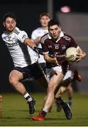 6 February 2019; Nathan Mullen of NUI Galway in action against Ryan McHugh of Ulster University during the Electric Ireland Sigerson Cup Quarter Final match between National University of Ireland, Galway, and Ulster University at the GAA Centre of Excellence in Abbotstown, Dublin. Photo by Harry Murphy/Sportsfile
