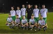 6 February 2019; The Republic of Ireland Amateurs team, back row, from left, Thomas Hyland, Liam Brady, Stephen Kelly, Brendan O'Connell, Stephen McGann and Shane Stritch, with, front row, Gary Delaney, Paul Murphy, Eoin Hayes, Christopher McCarthy and Jordan Buckley prior to the friendly match between Republic of Ireland U21's Homebased Players and Republic of Ireland Amateur at Home Farm FC in Whitehall, Dublin. Photo by Stephen McCarthy/Sportsfile