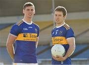 7 February 2019; Tipperary footballers Conor Sweeney and Brian Fox during an event organised by Tipperary GAA sponsor Teneo at Semple Stadium in Thurles, Co Tipperary. Photo by Matt Browne/Sportsfile