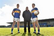 7 February 2019; Tipperary football manager Liam Kearns with players Conor Sweeney and Brian Fox during an event organised by Tipperary GAA sponsor Teneo at Semple Stadium in Thurles, Co Tipperary. Photo by Matt Browne/Sportsfile